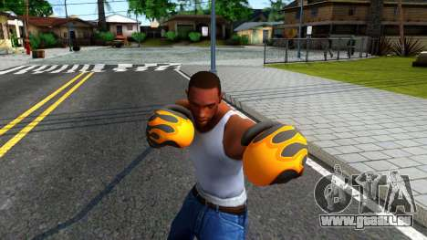 Black With Flames Boxing Gloves Team Fortress 2 für GTA San Andreas dritten Screenshot