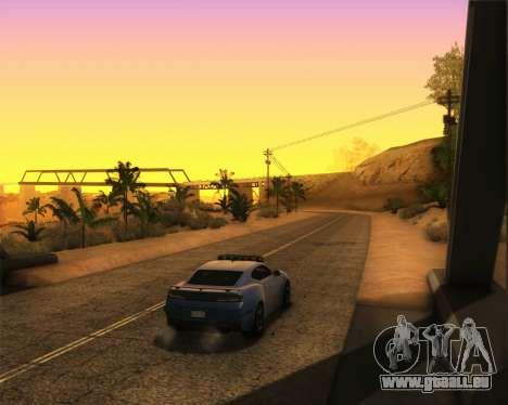 Chevrolet Camaro SS Xtreme pour GTA San Andreas sur la vue arrière gauche