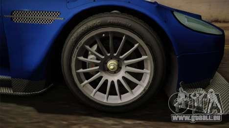 Aston Martin Racing DBR9 2005 v2.0.1 Dirt für GTA San Andreas Rückansicht