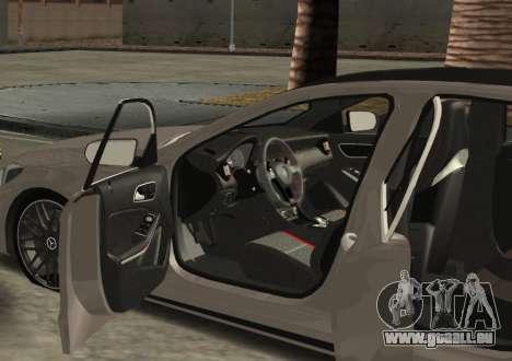 Mercedes-Benz C63 AMG W205 pour GTA San Andreas laissé vue