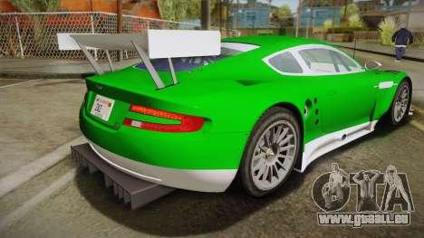 Aston Martin Racing DBR9 2005 v2.0.1 YCH Dirt für GTA San Andreas linke Ansicht