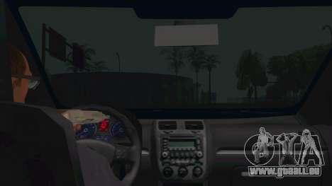 Volkswagen Golf MK pour GTA San Andreas vue intérieure