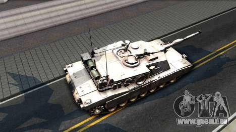 M1A1 Abrams COD4MW Remastered für GTA San Andreas zurück linke Ansicht
