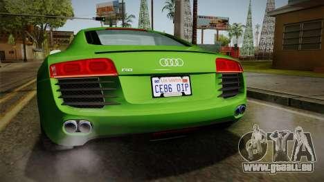 Audi R8 Coupe 4.2 FSI quattro EU-Spec 2008 für GTA San Andreas Innen