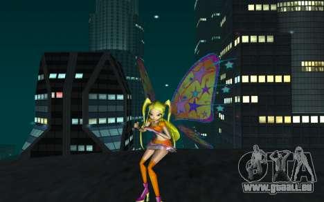 Stella Believix from Winx Club Rockstars für GTA San Andreas zweiten Screenshot