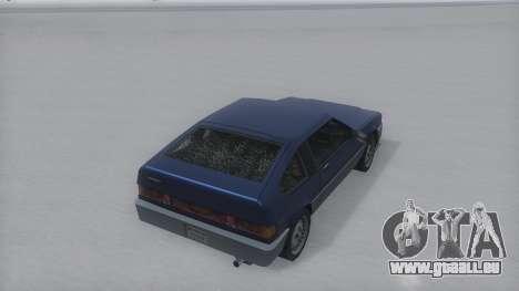 Blista Compact Winter IVF pour GTA San Andreas sur la vue arrière gauche