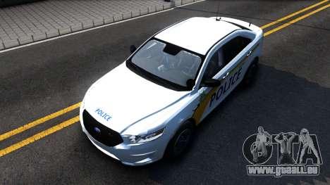 Ford Taurus Slicktop Metro Police 2013 pour GTA San Andreas vue de droite