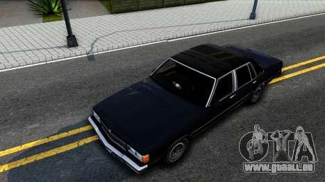 Chevrolet Caprice Brougham 1986 pour GTA San Andreas vue arrière