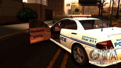 1998 Dinka Chavos Montgomery Police Department für GTA San Andreas Rückansicht
