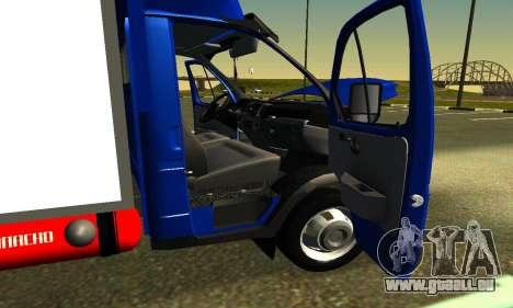 Gazel 3302 Geschäft für GTA San Andreas Innenansicht