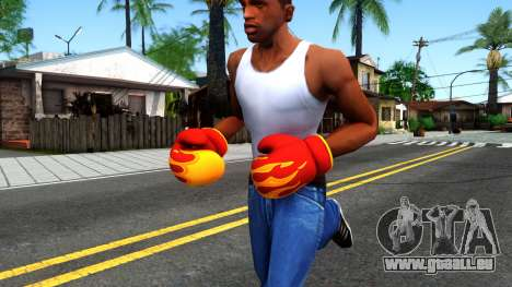 Red With Flames Boxing Gloves Team Fortress 2 pour GTA San Andreas
