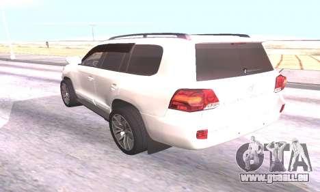 Toyota Land Cruiser 200 für GTA San Andreas zurück linke Ansicht