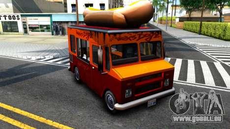 New HotDog Van für GTA San Andreas linke Ansicht