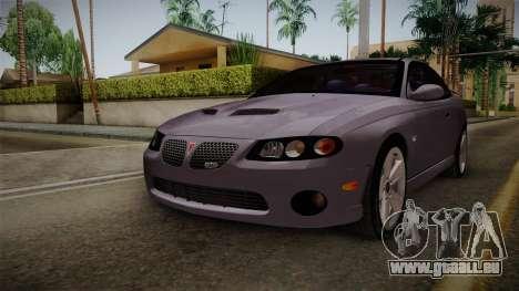 Pontiac GTO Hot Wheels NASCAR PJ pour GTA San Andreas vue de droite