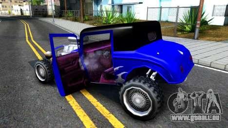 Duke Blue Hotknife Race Car pour GTA San Andreas vue intérieure
