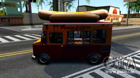 New HotDog Van für GTA San Andreas rechten Ansicht
