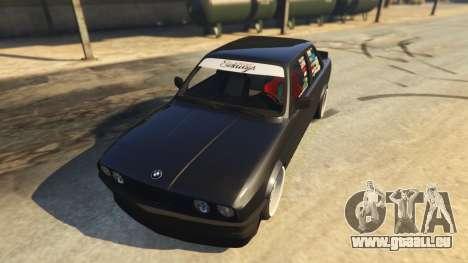 GTA 5 BMW E30 Drift vue arrière