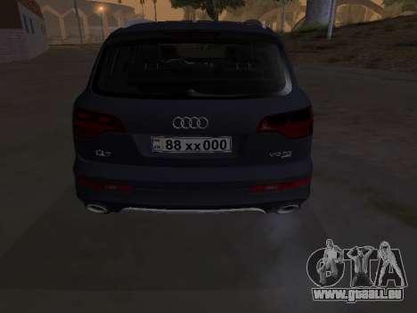 Audi Q7 Armenian pour GTA San Andreas vue intérieure