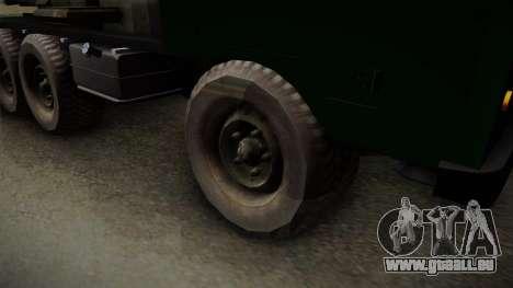 TAM 110 Serbian Military Vehicle pour GTA San Andreas vue de droite