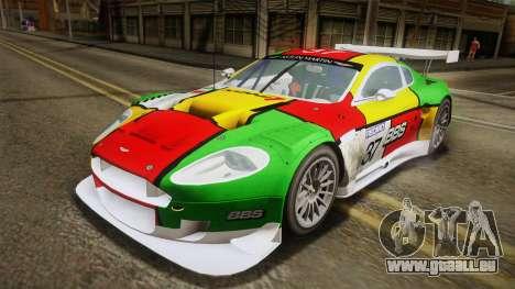 Aston Martin Racing DBR9 2005 v2.0.1 YCH Dirt für GTA San Andreas Innen