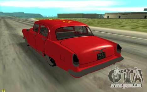 GAZ-21 pour GTA San Andreas sur la vue arrière gauche