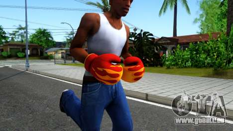 Red With Flames Boxing Gloves Team Fortress 2 pour GTA San Andreas deuxième écran
