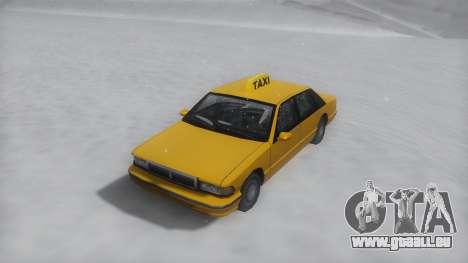 Taxi Winter IVF für GTA San Andreas rechten Ansicht