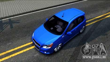 Chevrolet Aveo 2012 für GTA San Andreas Rückansicht