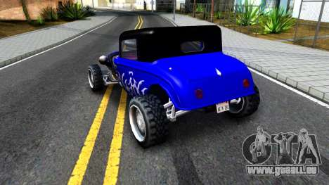Duke Blue Hotknife Race Car für GTA San Andreas rechten Ansicht
