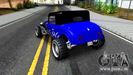 Duke Blue Hotknife Race Car pour GTA San Andreas vue de droite