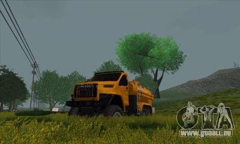 Oural De Carburant Du Camion À Côté pour GTA San Andreas sur la vue arrière gauche