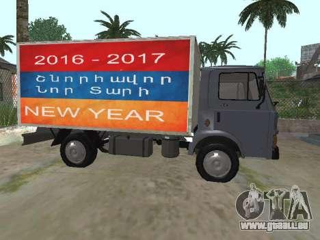 Zastava 640 Armenian pour GTA San Andreas sur la vue arrière gauche