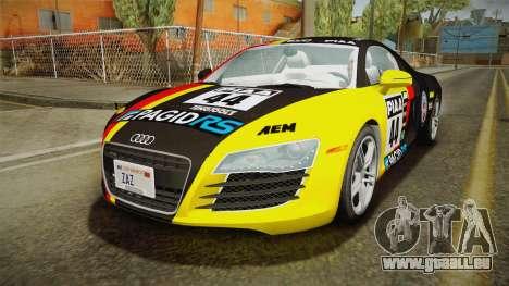 Audi R8 Coupe 4.2 FSI quattro US-Spec v1.0.0 v2 pour GTA San Andreas vue de dessous