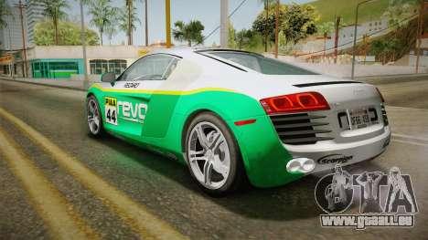 Audi R8 Coupe 4.2 FSI quattro US-Spec v1.0.0 v2 pour GTA San Andreas vue de dessus