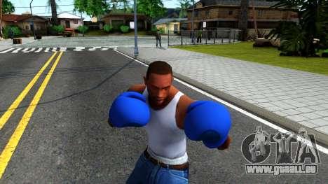 Blue Boxing Gloves Team Fortress 2 pour GTA San Andreas troisième écran