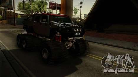 Hummer H2 6x6 Monster pour GTA San Andreas vue de droite