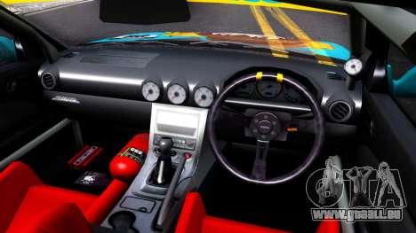 Taneshima Popura NISSAN Silvia S15 Itasha pour GTA San Andreas vue intérieure
