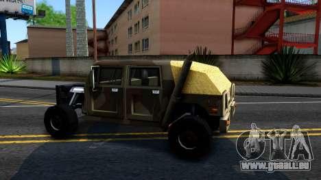 New Patriot GTA V für GTA San Andreas linke Ansicht