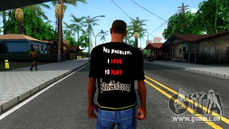 Love To Play San Andreas T-Shirt für GTA San Andreas dritten Screenshot