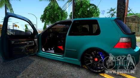 VW Golf 4 für GTA San Andreas Innenansicht
