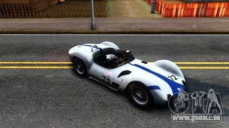 Maserati Tipo 61 pour GTA San Andreas laissé vue