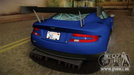 Aston Martin Racing DBR9 2005 v2.0.1 Dirt für GTA San Andreas Innen