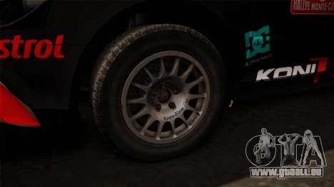 Audi RS3 Sportback Rally WRC für GTA San Andreas Rückansicht