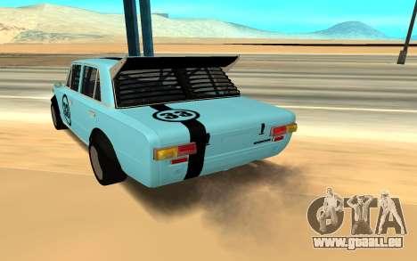 VAZ 2101 Autosport pour GTA San Andreas sur la vue arrière gauche