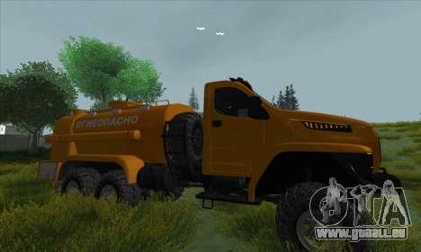 Oural De Carburant Du Camion À Côté pour GTA San Andreas vue arrière