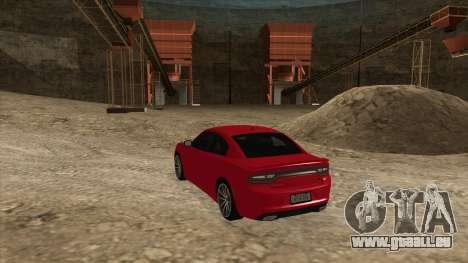 Dodge Charger R/T 2015 für GTA San Andreas zurück linke Ansicht
