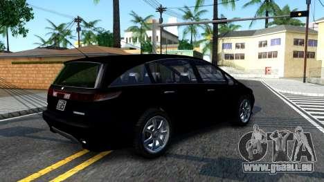 2010 Dinka Perennial Unmarked für GTA San Andreas rechten Ansicht