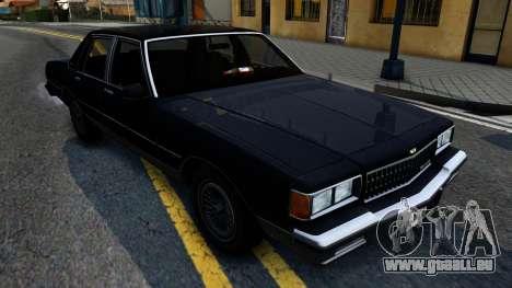 Chevrolet Caprice Brougham 1986 pour GTA San Andreas sur la vue arrière gauche