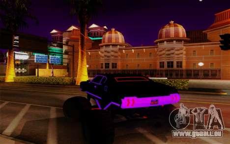 Cyber Sabre XL pour GTA San Andreas sur la vue arrière gauche