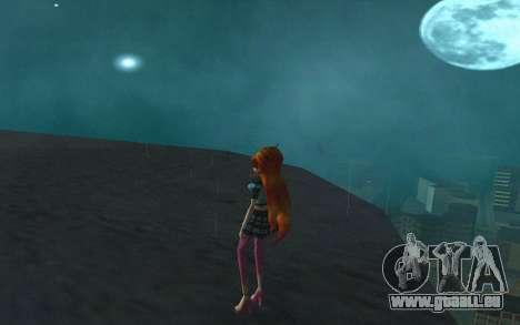Bloom Rock Outfit from Winx Club Rockstar pour GTA San Andreas troisième écran